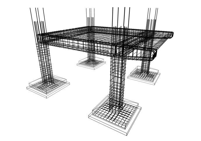 桌子的结构素描